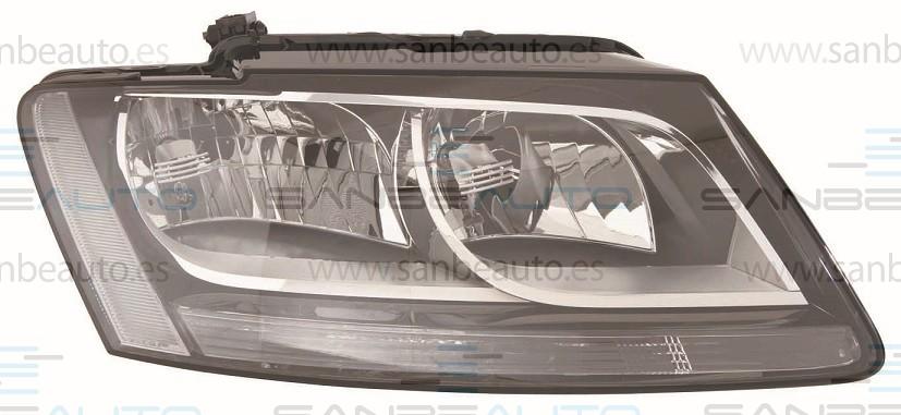 AUDI Q5 08-*FARO DCH CON REGULACION ELECTRICA (CON MOTOR) INTERIOR NEGRO H7