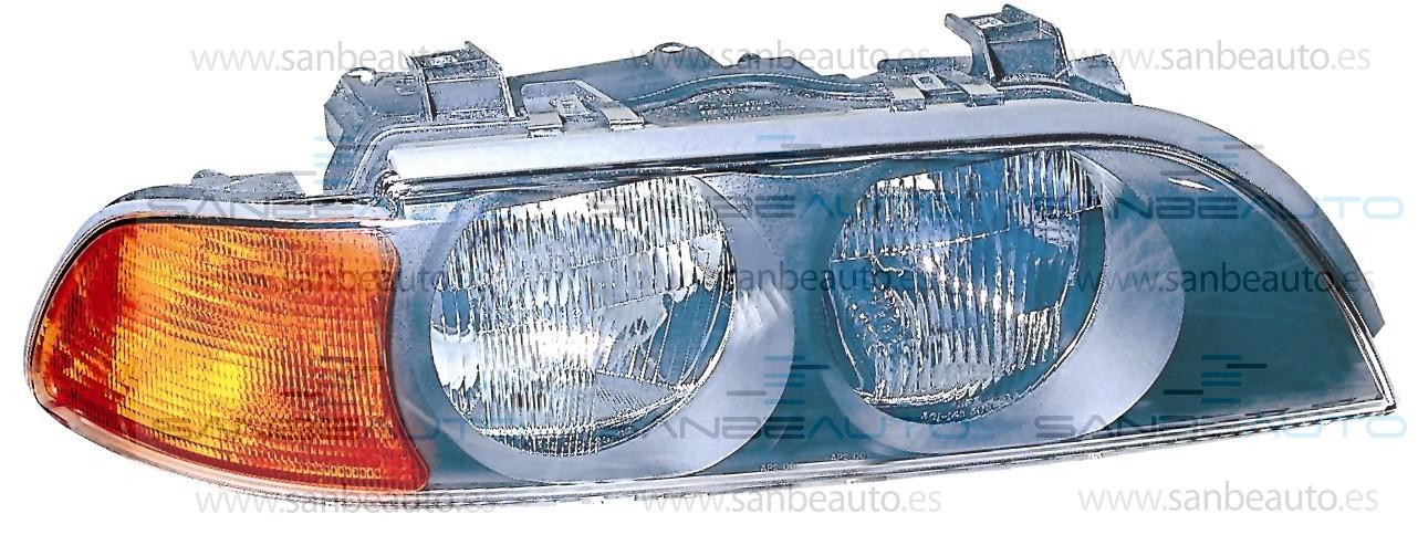 BMW E39 95-*FARO DCH CON REGULACION Y CON PILOTO AMBARILLO