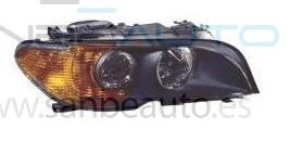 BMW E46 2P 03-*FARO DCH CON REGULACION ELECTRICA CON INTERMITENTE AMBAR(INTERIOR OSCURO)