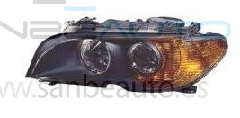 BMW E46 2P 03-*FARO IZQ CON REGULACION ELECTRICA CON INTERMITENTE AMBAR(INTERIOR OSCURO)