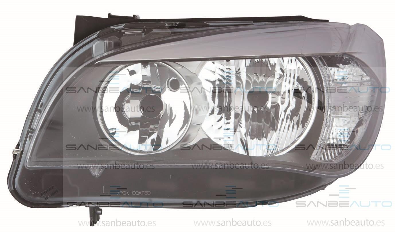 BMW X1 13-*FARO IZQ CON REGULACION ELECTRICA INTERIOR NEGRO H7/H7