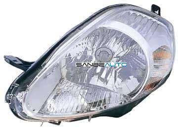 FIAT GRANDE PUNTO 08-*FARO IZQ CON REGULACION ELECTRICA INTERIOR CROMADO (8 PINS CONEXION MORADA)