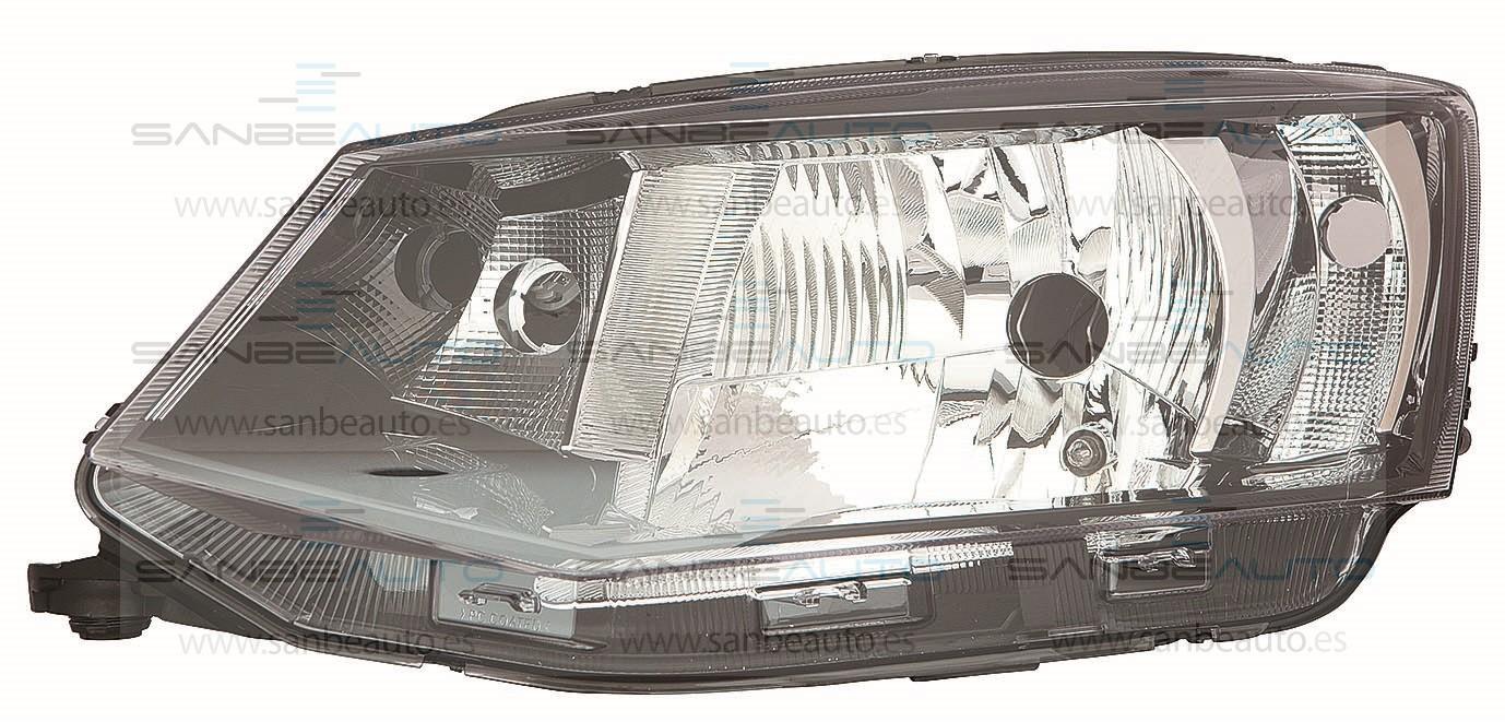 SKODA FABIA 15-*FARO IZQ CON REGULACION ELECTRICA CON MOTOR INTERIOR NEGRO H4