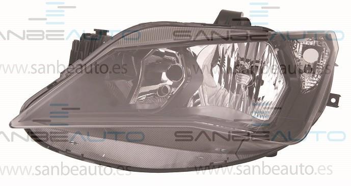 SEAT IBIZA 12-*FARO IZQ CON REGULACION ELECTRICO/MANUAL INTERIOR NEGRO H7/H7(SPORT)
