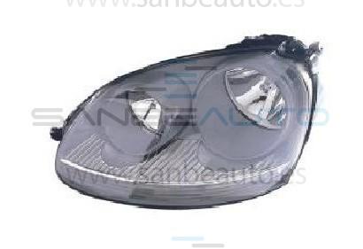 VW GOLF V/JETTA 03-*FARO IZQ CON REGULACION ELECTRICA(INTERIOR CLARO)