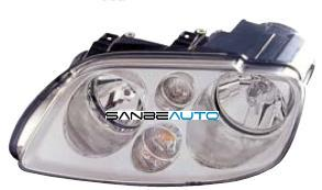 VW TOURAN 03-*FARO IZQ CON REGULACION ELECTRICO  SIN MOTOR (INTERIOR  CROMADO)