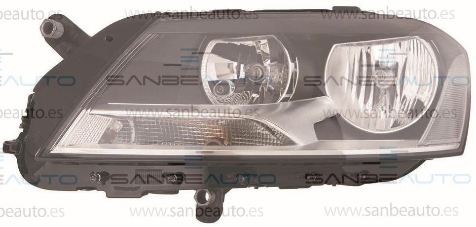 VW PASSAT 10-*FARO IZQ CON REGULACION ELECTRICA CON MOTOR (INTERIOR NEGRO