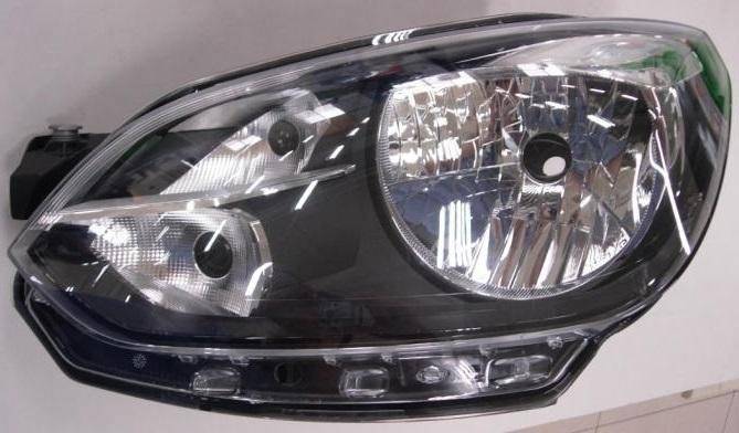 VW UP 12-*FARO IZQ CON REGULACION ELECTRICA (INTERIOR NEGRO) H4