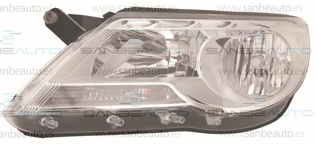 VW TIGUAN 09-*FARO IZQ CON REGULACION ELECT CON MOTOR H7/H7