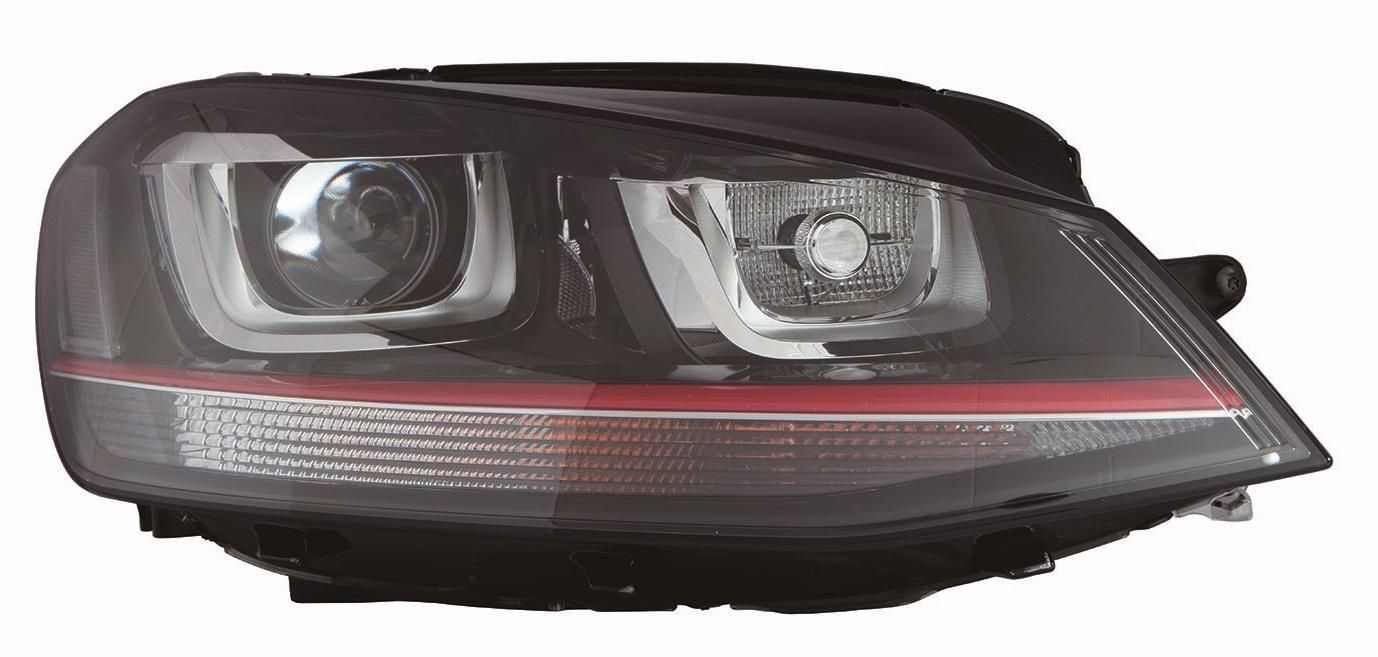 VW GOLF VII 13-*FARO DCH CON REGULACION ELECTRICA CON MOTOR D3S/H7 INTERIOR NEGRO (GTI) (XENON)