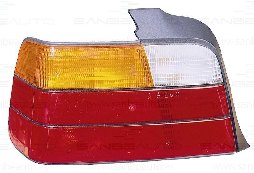 BMW E36 91-*PILOTO TRASERO  DCH 4P(BLANCO+AM+ROJO)