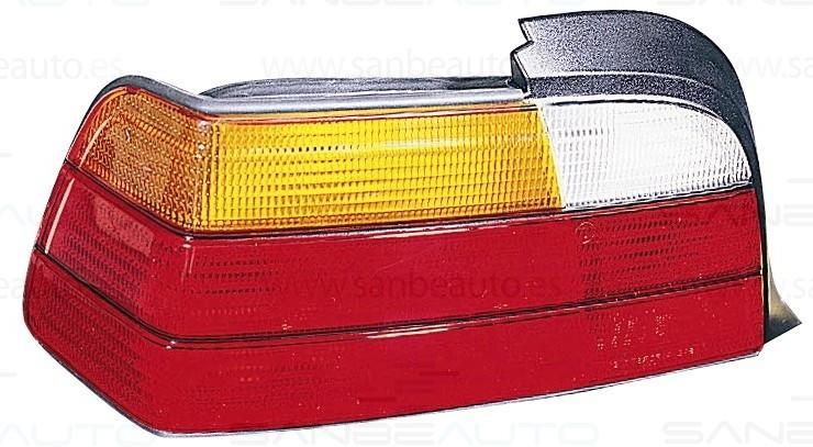 BMW E36 2P 91-*PILOTO TRASERO IZQ (BLANCO+AMBAR+ROJO)