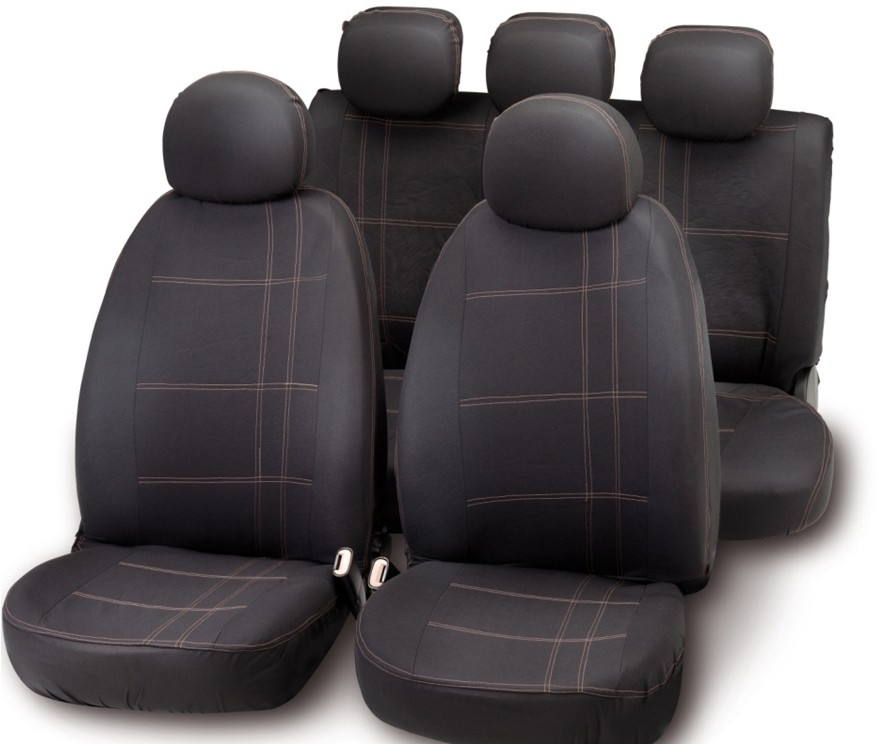 FUNDA ASIENTO BOTTARI AUTOMOVIL EMBROIDERY NEGRO/GRIS
