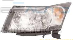 CHEVROLET CRUZE 09-*FARO IZQ CON REGULACION ELECTRICA CON MOTOR H4