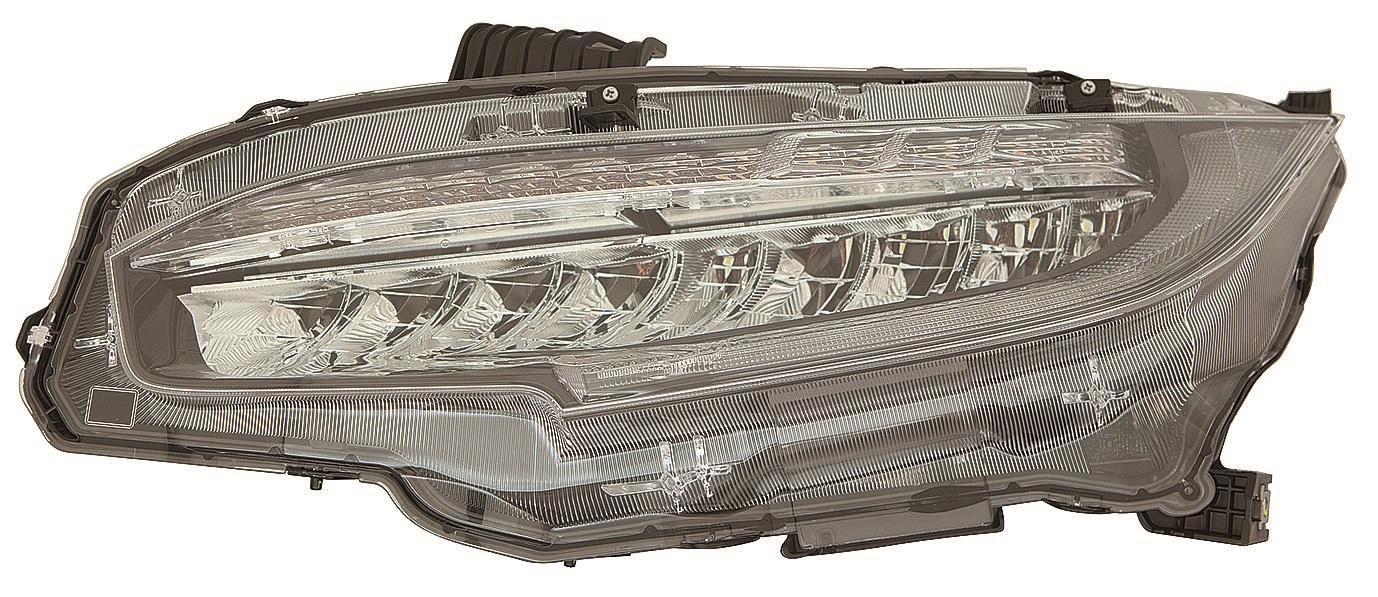 HONDA CIVIC 17-*FARO DCH CON REGULACION ELECTRICA CON MOTOR INTERIOR NEGRO (LED)