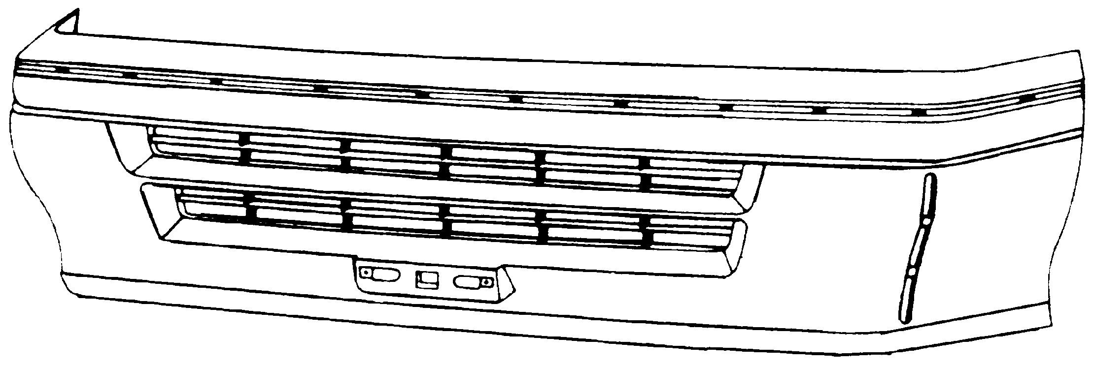 TOYOTA HIACE LH102 88-*PARAGOLPES DELANTERO