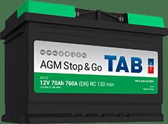BATERIA TAB START/STOP AGM 70AHR 760(CAPACIDAD DE ARRANQUE) 278X175X190