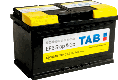 BATERIA TAB START/STOP EFB 60AHL 600(CAPACIDAD DE ARRANQUE) 230X173X200 (POSITIVO A LA IZQUIERDA)