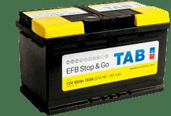 BATERIA TAB START/STOP EFB 80AHR 760(CAPACIDAD DE ARRANQUE) 315X175X190
