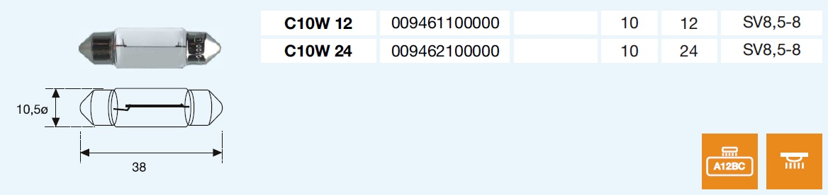PLAFONIER C10W 12/10-SV8,5-8