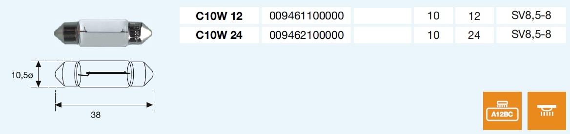 PLAFONIER C10W 24/10-SV8,5-8