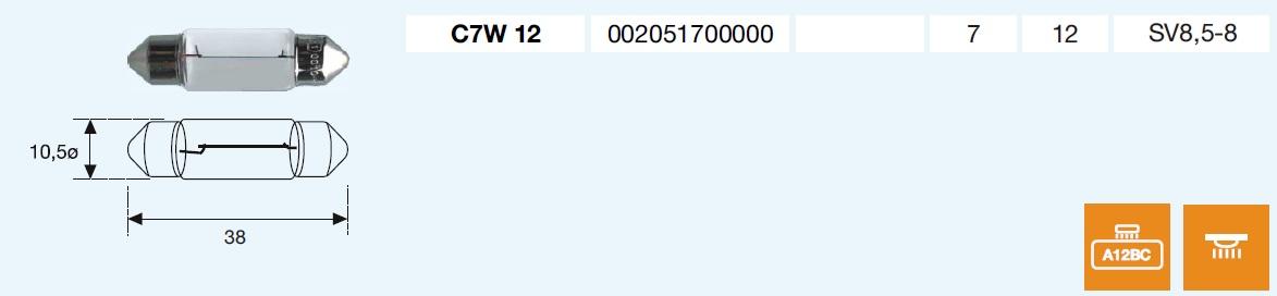 PLAFONIER C7W 12/7-SV8,5-8