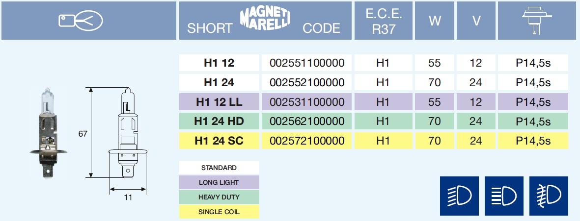 H1 STANDARD 12/55-P14,5s