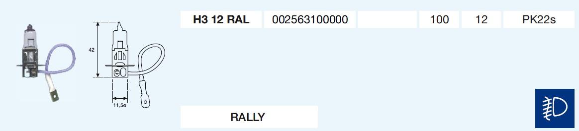 H3 RALLY 12/100-PK22s