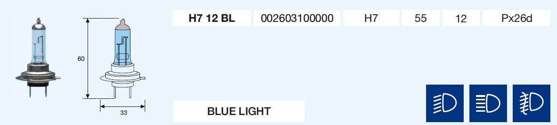 H7 BLUE LIGHT 12/55-Px26d