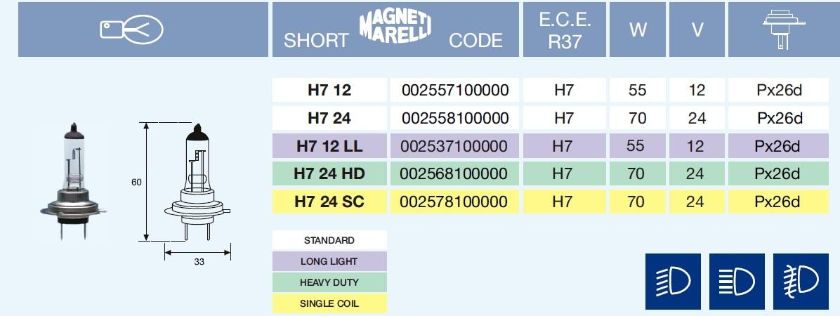 H7 LONG LIGHT 12/55-Px26d