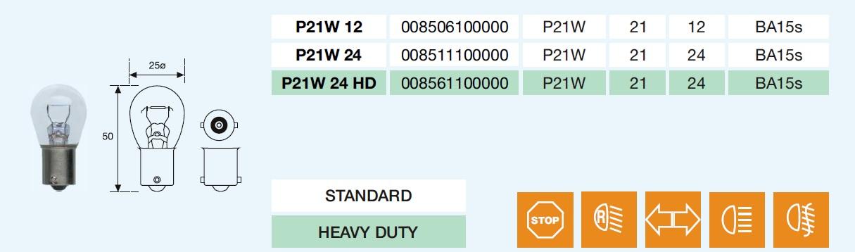 STOP 1F. P21W 12/21-BA15s