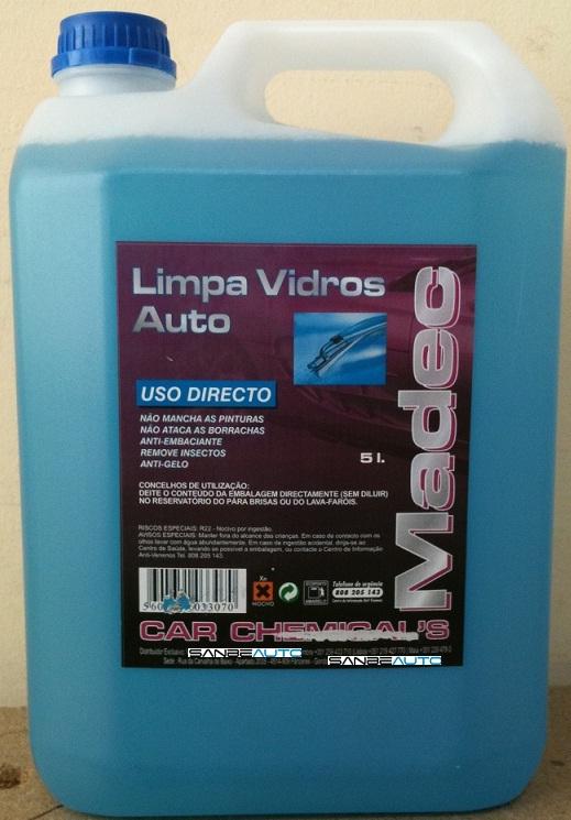 LIMPIA CRISTALES ANTICONGELANTE-QUITA INSECTOS-ANTIVAHO-NO DEJA MANCHAS -  5 LITROS (AZUL)