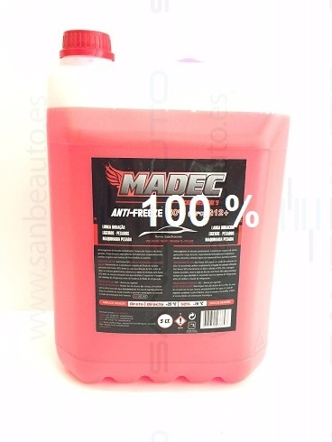 ANTICONGELANTE 100%  BS-6580 5L (ROJO)