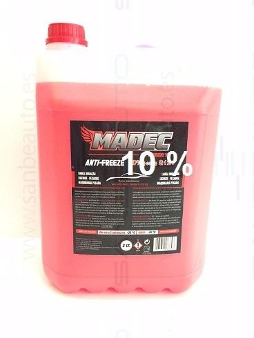 MADEC ANTICONGELANTE 10% -4C� 5L (ROJO)