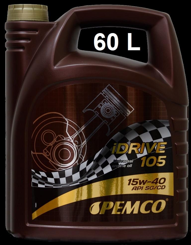 PM IDRIVE 105 15W-40 - 60L(SG/CD) MINERAL