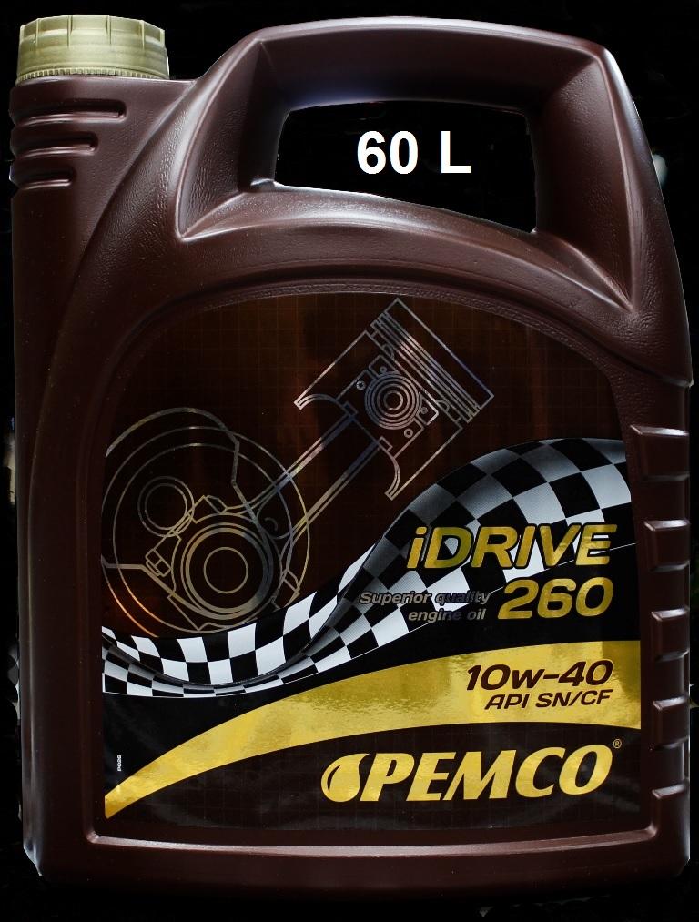 PM IDRIVE 260 10W-40 - 60L(SN/CF/A3/B4/VW50500) SEMISINTETICO