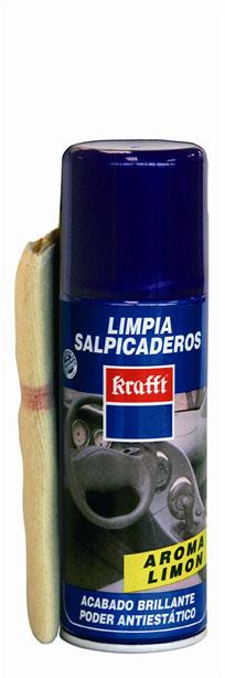 LIMPIADOR COCHE KRAFFT SALPICADERO PEFUME LIMON BAYETA 400ML