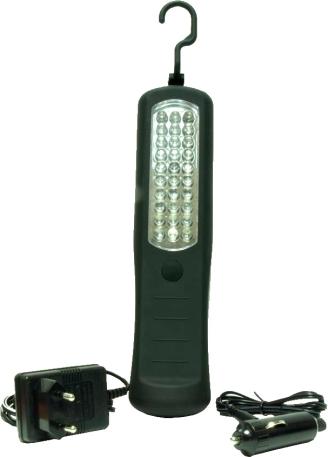 LAMPARA TALLER SALKI PORTATIL 30 LEDS RECARGABLE 8780201 RECUBIERTA GOMA 12V NiMh