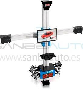 Alineadora de dirección 3D laser 2 ejes 2 cámaras + 4 reflector comunicación inalámbrica con equipo informático actualización gratis 220V