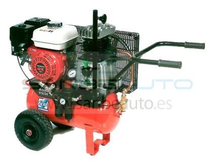 compresor agri con motor gasolina calderín 24L 10bar 5,5cv