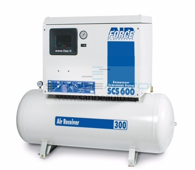 Compresor piston insonorizado calderín 500L 777l/min 10bar 7,5cv 400V/50Hz/3Ph