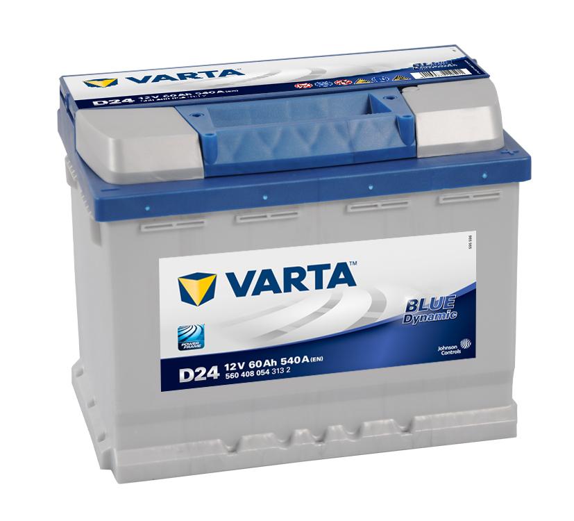 BATERIA VARTA BLUE 60AH 540(CAPACIDAD DE ARRANQUE) POSITIVO DCH 242x175x190