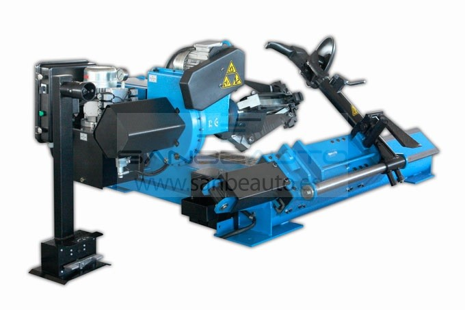 Desmontadora de rueda industrial rueda de camión autobús tractor sistema hidráulico doble motor desplazamiento cabezal manual 14-56 2300mm 1065mm 1500kg 380V