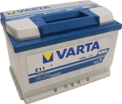 BATERIA VARTA BLUE 74AH 680(CAPACIDAD DE ARRANQUE) POSITIVO DCH 278X175X190