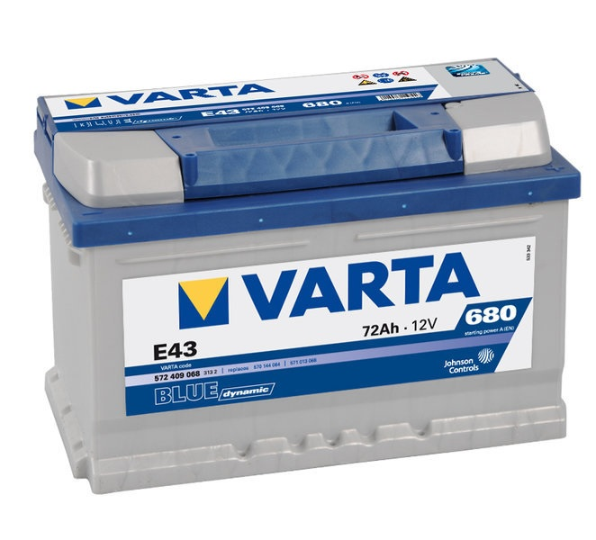 BATERIA VARTA BLUE 72H 680(CAPACIDAD DE ARRANQUE) POSITIVO DCH 242X175X190