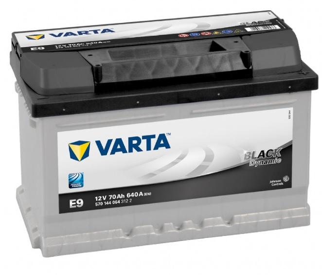 BATERIA VARTA BLACK 70AH 640(CAPACIDAD DE ARRANQUE) POSITIVO DCH 278X175X175