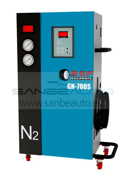 Generador nitrógeno automático pureza hasta 99% presión de inflado hasta 6 bares 220V