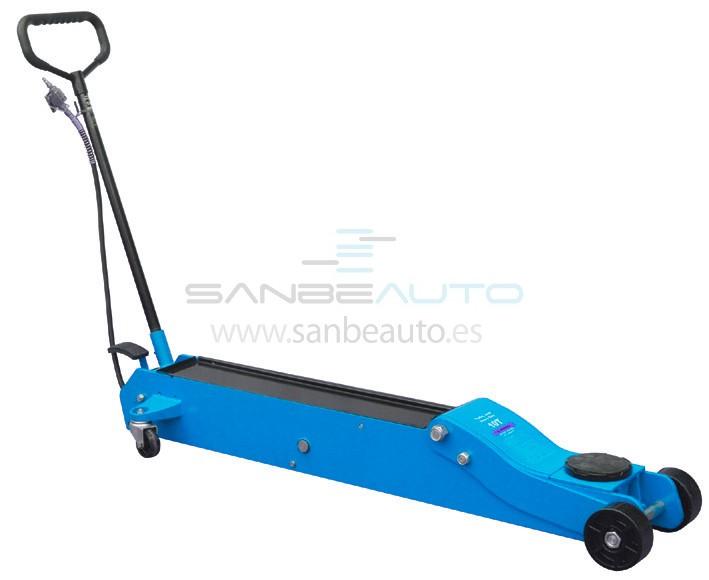 Gato extralargo sistema hidráulico y neumático subida palanca y pedal 420mm de carrera 10ton   170mm-590mm