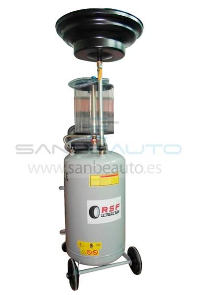 Aspirador de vacío y recogedor para aceite usado con vaso medidor transparente 10L depósito 80L