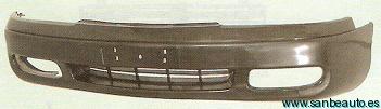 PARAGOLPES.MAZDA 626 GE DELANTERO NEGRO 92-97